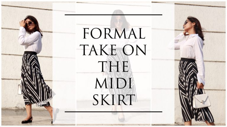 FORMAL TAKE ON THE MIDI SKIRT