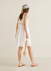 Mango back bow dress