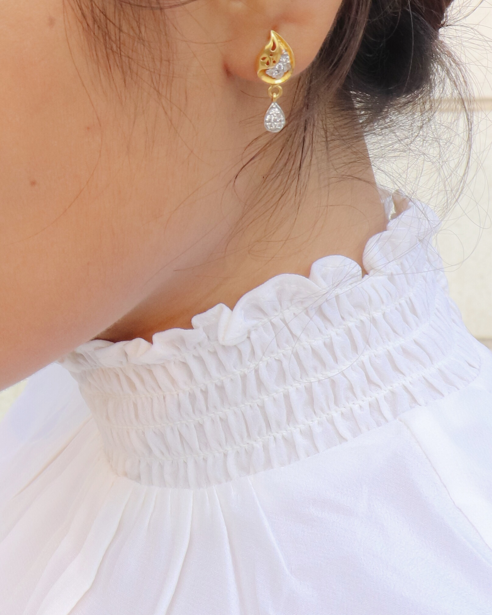 Five favourite silk pieces - Gold Earings