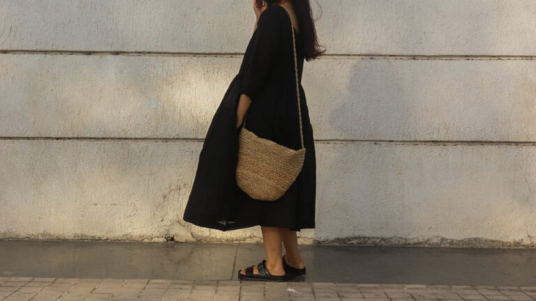 How to style your long black dress in summer