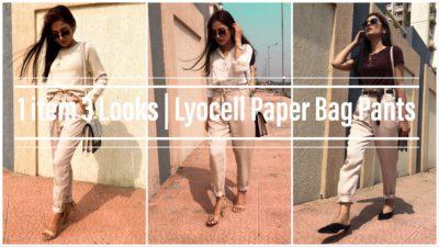 1 item 3 Looks | lyocell Paperbag pants